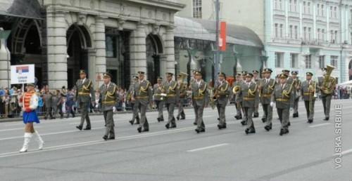 """На хиљаде Московљана скандирало """"Маршу на дрину"""" Војног оркестра Ниш (ВИДЕО)"""