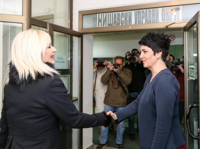 Ministarka građevinarstva, saobraćaja i infrastrukture posetila Nišavski upravni okrug